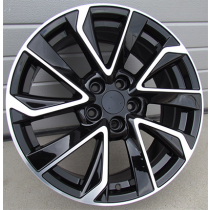 R Line BK5463 black polished 17x7 5x114.3 ET45 67,1