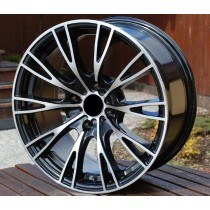 R Line CIBK550 black polished 16x7,5 4x108 ET15 65,1