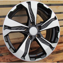 R Line BK5520 black polished 17x7.5 5x114.3 ET45 64.1