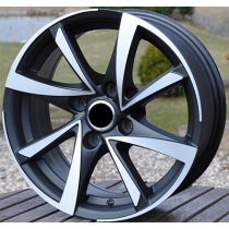R Line BK575 black polished 15x6,5 4x100 ET40 60,1