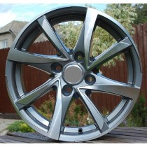 R Line CIBK575 grey polished 15x6,5 4x108 ET20 65,1