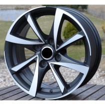 R Line CIBK575 black polished 14x6 4x108 ET20 65,1