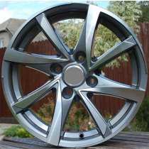 R Line BK575 grey polished 15x6,5 4x100 ET40 60,1