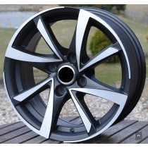 R Line CIBK575 black polished 15x6,5 4x108 ET25 65,1