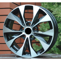 R Line BK606 black polished 17x7 5x114,3
