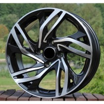 R Line CIPBK607 black polished 16x7 4x108 ET23-25 65,1