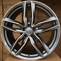 R Line ABK690 anthracite polished 22x9 5x130 ET50 71.5