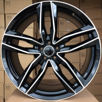 R Line ABK690 black polished 22x9 5x130 ET50 66,45