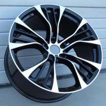 R Line BK851 black polished 20x11 5x120 ET37 74.1