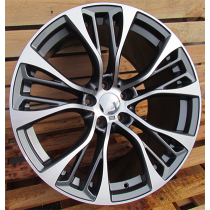 R Line BK851 anthracite polished 20x10 5x120 ET40 74.1