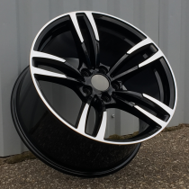 R Line BBK855 black polished 20x10 5x120 ET40 72,6