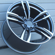 R Line BBK855 anthracite polished 20x8,5 5x120 ET33 72,6