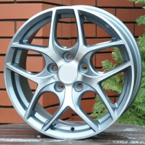 R Line FOBK857 grey polished 16x6.5 5x108 ET52 63.4