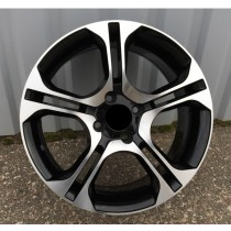 R Line RNBK875 black polished 16x6,5 4x100 ET40 60,1