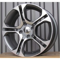 R Line RNBK875 grey polished 15x6,5 4x100 ET40 60,1