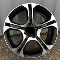 R Line RNBK875 black polished 15x6,5 4x100 ET40 60,1