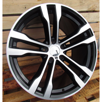 R Line BK924 black polished 20x11 5x120 ET37 74.1