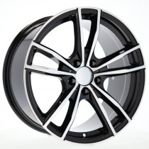 R Line BMA5588 19x8 5x112 ET27 66.6 black polished