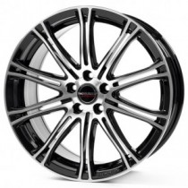 Borbet CW1 17x8 black polished