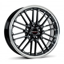 Borbet CW2 17x7 black polished
