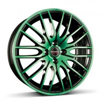 Borbet CW4 17x8 black green