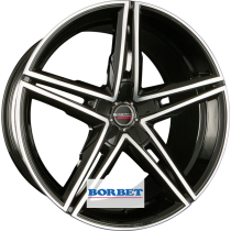 Borbet XRS 18x8 black polished glossy