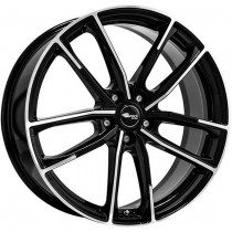 Brock B38 19x8 Black Polished