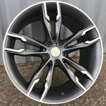 R Line BXFE169 anthracite polished 20x9,5 5x120 ET40 72,6
