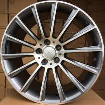 R Line MBY1048 anthracite polished 22x10 5x112 ET45 66,56