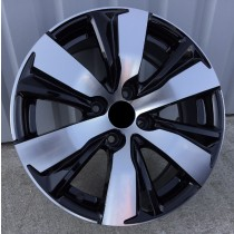 R Line PEBY1081 black polished 16x6,5 4x108 ET18 65,1
