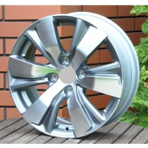 R Line PEBY1081 grey polished 16x6,5 4x108 ET18 65,1