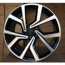 R Line VWBY1154 black polished 17x7,5 5x100 ET42 57,1