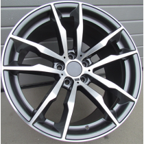 R Line BY1256 anthracite polished 20x10 5x120 ET40 74.1