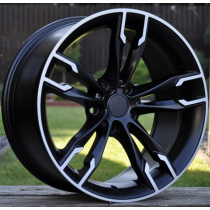 "R Line BBY1257 19"" 5x112 black polished"