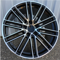 R Line BY1274 black polished 21x9 5x112 ET26 66.5