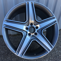 R Line MBY130 anthracite polished 20x9 5x112 ET46 66,6