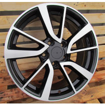 R Line BY131 black polished 19x7 5x114.3 ET40 66.1