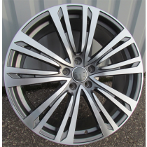R Line BY1372 anthracite polished 20x9.5 5x112 ET35 66.45