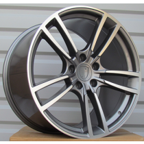 R Line BY1378 anthracite polished 21x9.5 5x130 ET50 71.6