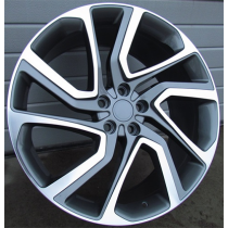 R Line BY1379 anthracite polished 22x9.5 5x108 ET45 63.3