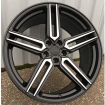 R Line BY1382 black polished 20x10 5x114.3 ET35 73.1
