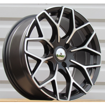 R Line BY1449 black polished 17x7.5 4x100 ET25 60.1