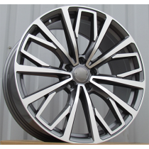 R Line BY1453 anthracite polished 20x9 5x112 ET39 66.45