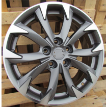 R Line BY177 anthracite polished 17x7 5x114.3 ET50 67.1