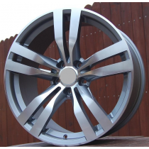 R Line BBY346 grey polished 17x7,5 5x120 ET34 72,6