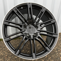 R Line PBY476 black polished lip 22x10 5x112 ET15 66,5