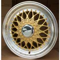 R Line BY479 gold polished 17x7.5 4x100/114.3 ET20 73.1