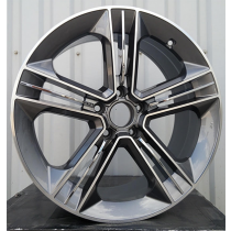 R Line BY5568 anthracite polished 21x9 5x112 ET30 66.45