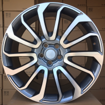R Line LBY959 anthracite polished 22x9,5 5x120 ET45 72,6
