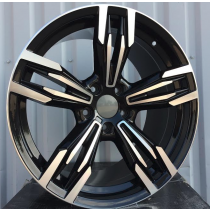 R Line BBY983 black polished 17x8 5x120 ET34 72,6